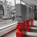 Totem - Acrylic, Mdf - 192 x 96 x 28,8 cm (x3)
