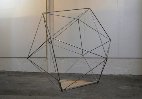 Emergency (meditation) Kit - Steel, wood - 280 x 280 x 280 cm