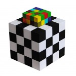 Color Chess - Acrylic, Wood - 64 (3x3cm) + 32 (1,5x1,5cm)