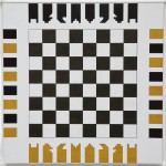 SmartChess - Plywood, plexiglass, 50 x 50 x 2 cm