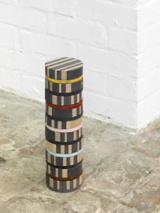 Chakra tower, 2017 - ceramic, mdf, plywood, 38,2 x 11 cm